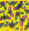 vintage insects colorful seamless pattern vector image vector image