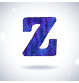 Watercolor letter Z vector image vector image