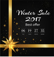 winter sale poster with back-off timer christmas vector image