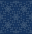 winter snowflake texture seamless pattern vector image vector image