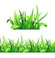 green grass horizontal seamless vector image