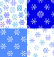 Set of seamless textures snowflakes vector image