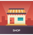 Store Front - flat design single icon vector image