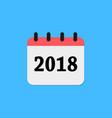 2018 calendar icon vector image vector image