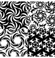 Abstract geometric set of seamless patterns vector image