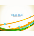abstract line background wavy lines and dot vector image vector image