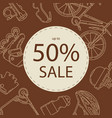 advertising banner design for bicycle sale vector image vector image