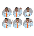 african american doctor with a stethoscope vector image vector image