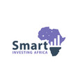 african investment marketing logo vector image