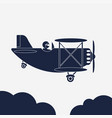 airplane icon aircraft vector image vector image