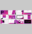 backgrounds digital technology purple blurred vector image vector image