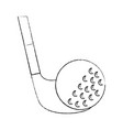 ball and club golf icon image vector image vector image