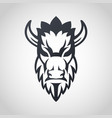 bison logo icon design vector image vector image