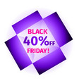 black friday banner in the form open box vector image