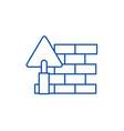 brick walldiy line icon concept brick walldiy vector image vector image