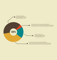business infographic diagram concept design vector image vector image