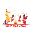 carnival party vector image vector image