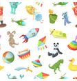 cartoon children toys pattern or background vector image