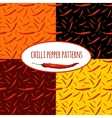 Chilli pepper seamless pattern vector image