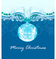 Christmas abstract bauble Framework style card vector image vector image