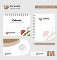 coconut logo calendar template cd cover diary and vector image