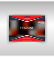 colorful banner of red color vector image vector image
