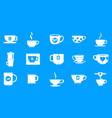 cup icon blue set vector image vector image