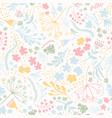 daisy flower meadow hand drawn seamless vector image