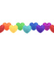decorative elements with pom-poms in the shape vector image
