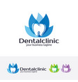 dental clinic logo design vector image vector image