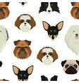 dog faces pattern geometric style vector image