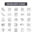 envelope line icons for web and mobile design vector image vector image