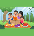 family having picnic together vector image vector image