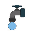 faucet and water drop icon image vector image vector image