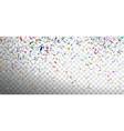 festive multicolored confetti vector image vector image