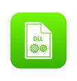 file dll icon digital green vector image vector image
