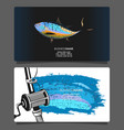 fishing for tuna business card vector image vector image