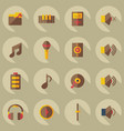 flat modern design with shadow icons music vector image vector image