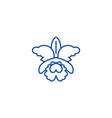 flowerorchid line icon concept flowerorchid vector image vector image