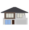 front view of a house building vector image
