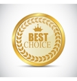 Gold Best Choice Label vector image vector image