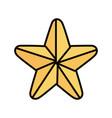 gold star bright ornament icon vector image