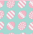 happy easter painting egg shell pink color with vector image