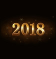 happy new year background gold numbers 2018 vector image vector image