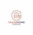 home and tailor logo template home sewing studio vector image vector image