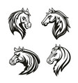 horse animal tribal tattoo or racing sport mascot vector image vector image