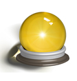 ial of a magic crystal ball vector image vector image