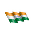 india flag on a white vector image