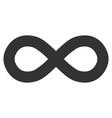 infinity flat icon vector image