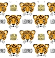 Leopard face seamless pattern vector image vector image